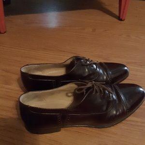 Bally dress wingtip shoe brown size 10D